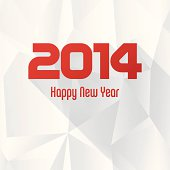 vector 2014 new year greeting card with seamless abstract background