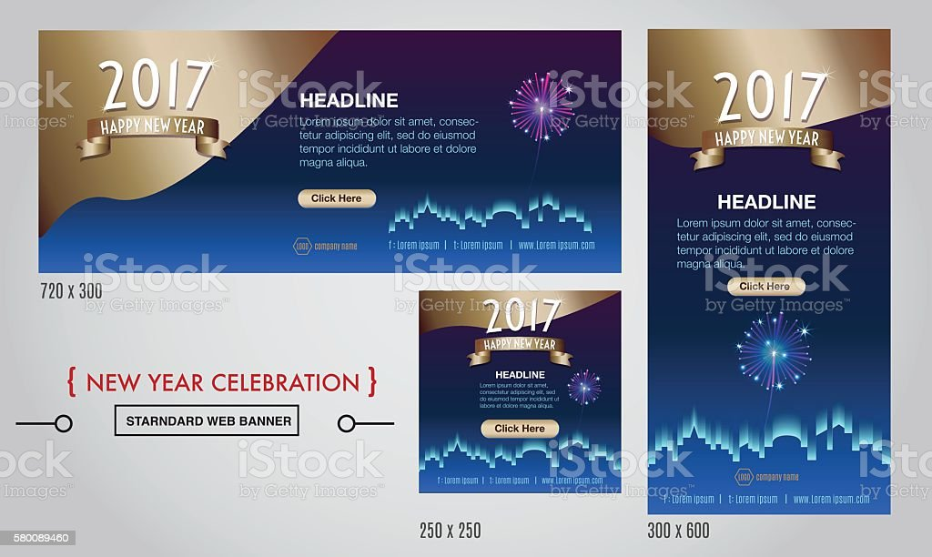 vector 2017 happy new year celebration web banner royalty free vector 2017 happy new year