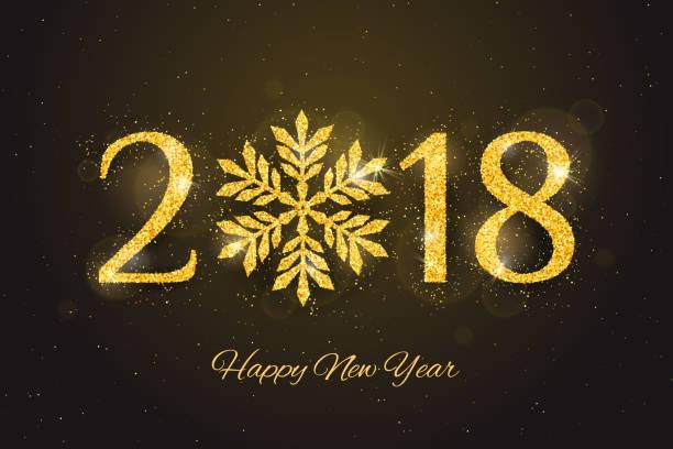 ベクトル 2018年幸せな新年のグリーティング カード - 大晦日点のイラスト素材/クリップアート素材/マンガ素材/アイコン素材