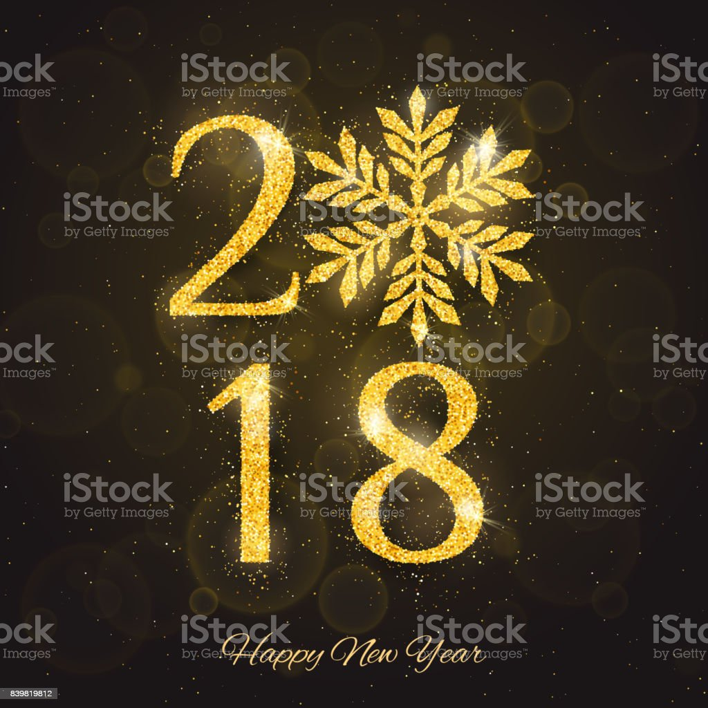 Vector 2018 Happy New Year Greeting Card Stock Vector Art & More ...