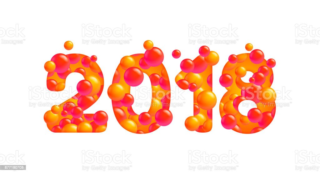 vector 2018 happy new year isolated on white royalty free vector 2018 happy new