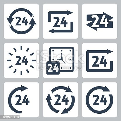 Vector '24 hours' icons set