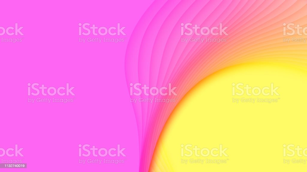 Vector 3d Abstract Background With Paper Cut Shapes