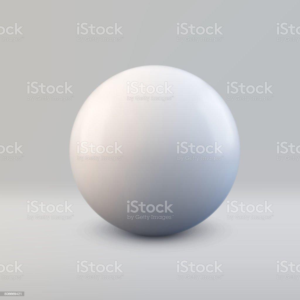 Vector 3d ball vector art illustration