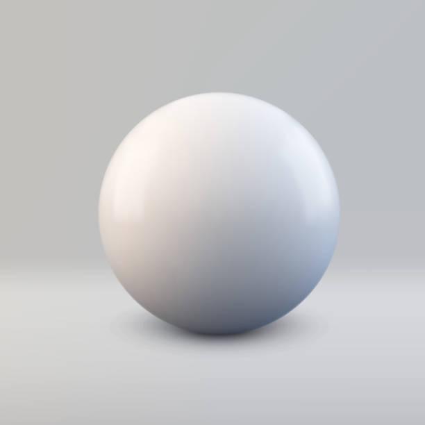 illustrazioni stock, clip art, cartoni animati e icone di tendenza di vettore sfera 3d - sfera lucida