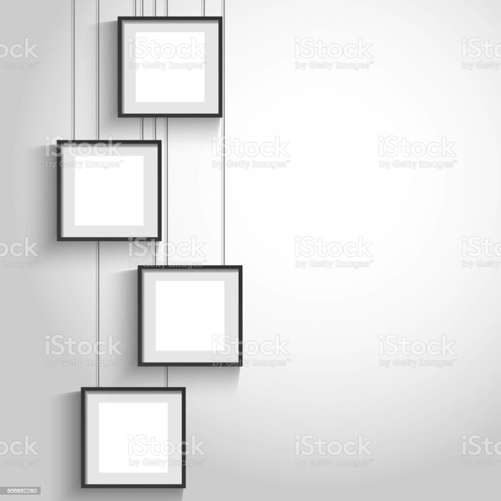 Vector 3d Blank Black Hanging Frames Stock Vector Art & More Images ...
