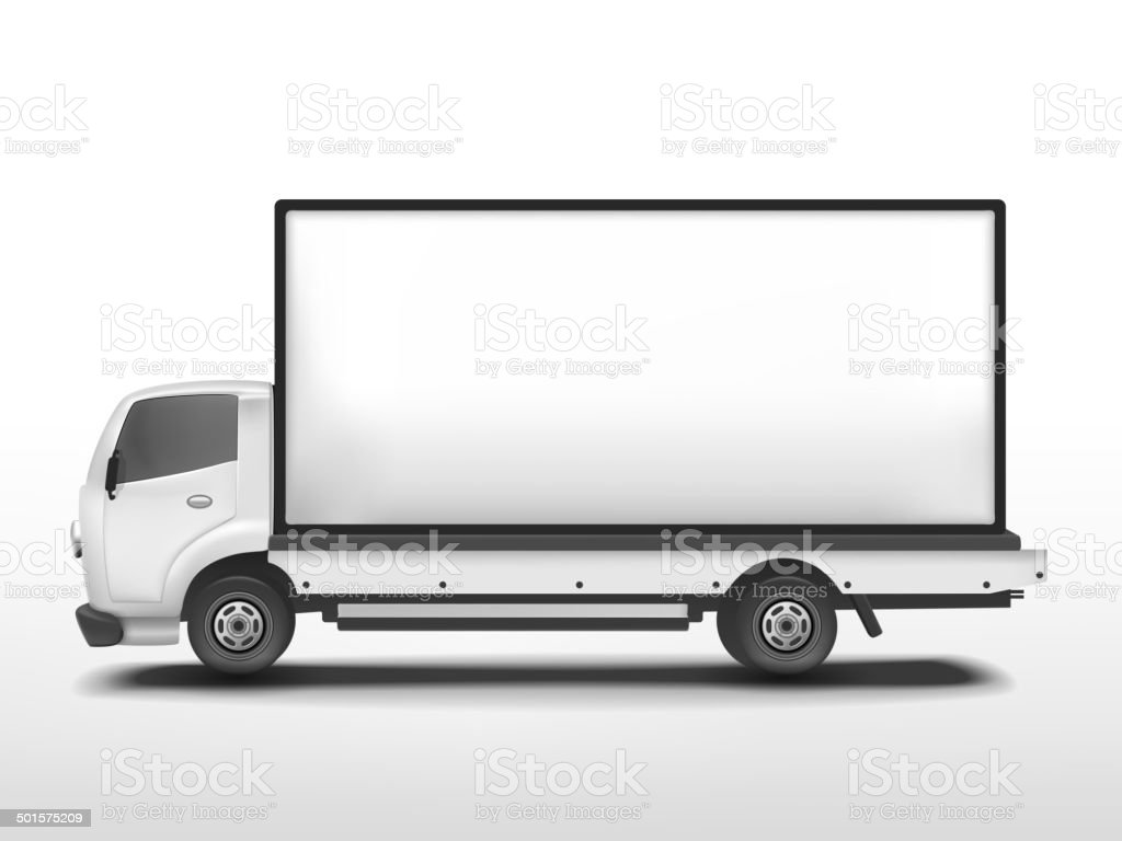 vector 3d blank mobile billboard vector art illustration