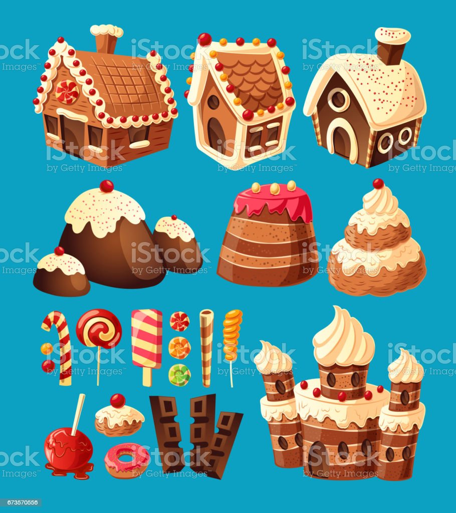Royalty Free Candy House Clip Art, Vector Images