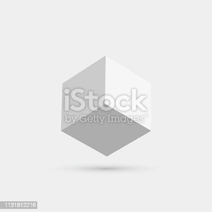 Vector 3D cube icon