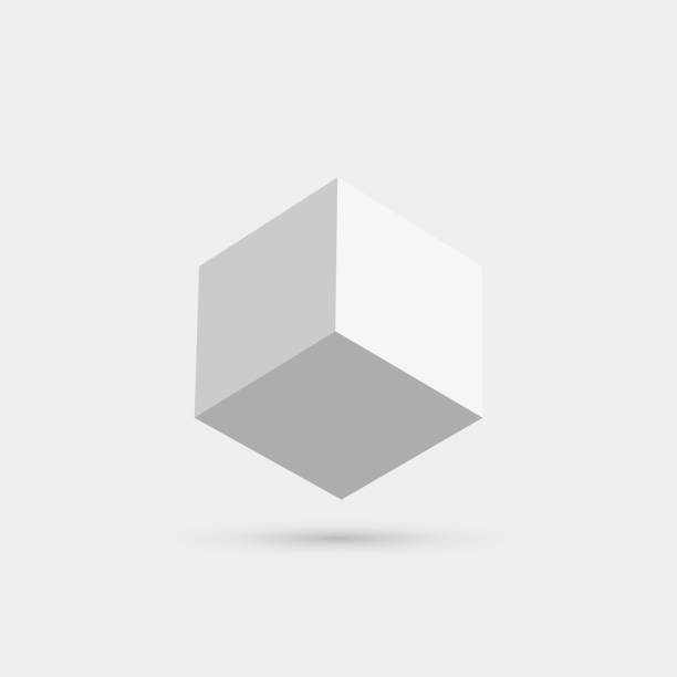 Vector 3D cube icon Vector 3D cube icon three dimensional stock illustrations