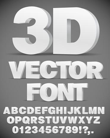 Vector 3d Font 3차원 형태에 대한 스톡 벡터 아트 및 기타 이미지