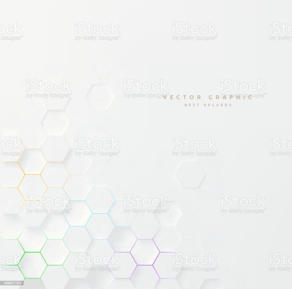 Vector 3d geometric background. Hexagonal backdrop. vector art illustration