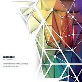 Vector 3D Geometric, Polygonal, Triangle pattern shape