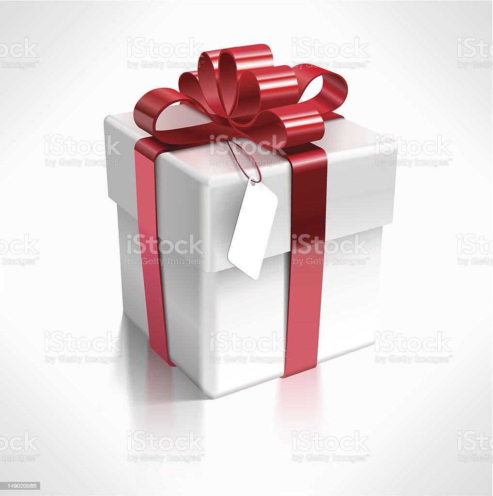 Vector 3d Gift Box royalty-free stock vector art