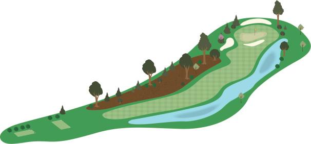 Vector 3D Golf Hole 2