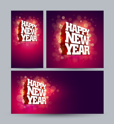 Vector 3D Happy New Year design.