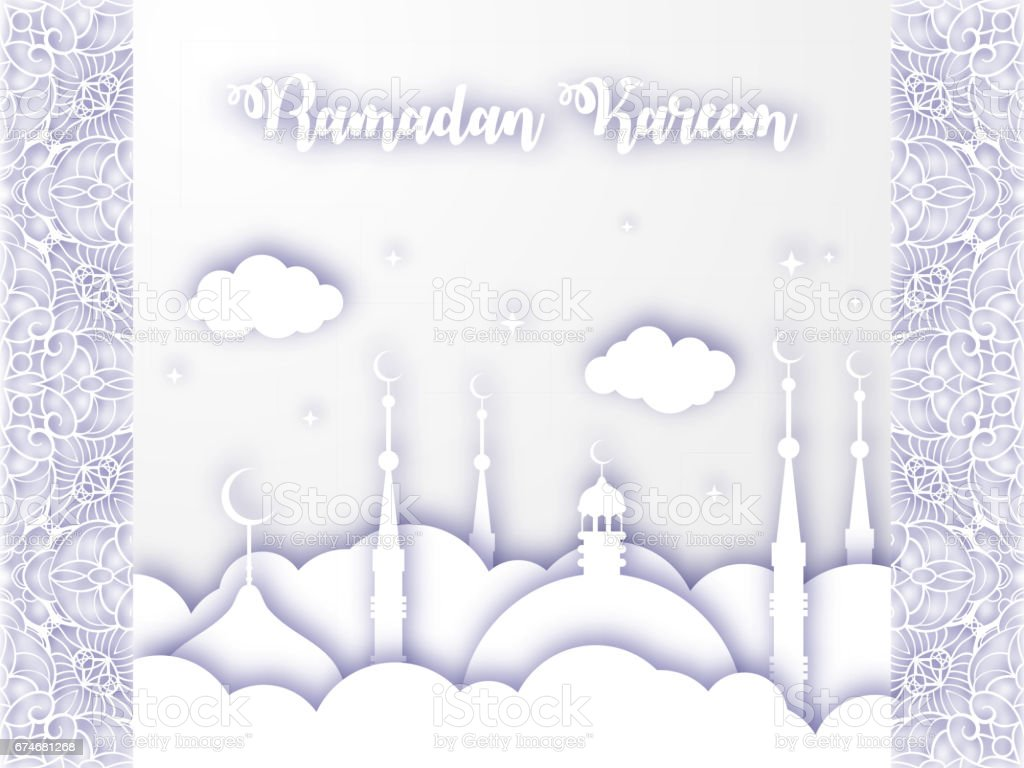 Vector 3d muslim paper cut art ramadan kareem holiday celebration vector 3d muslim paper cut art ramadan kareem holiday celebration greeting card background vector illustration kristyandbryce Image collections
