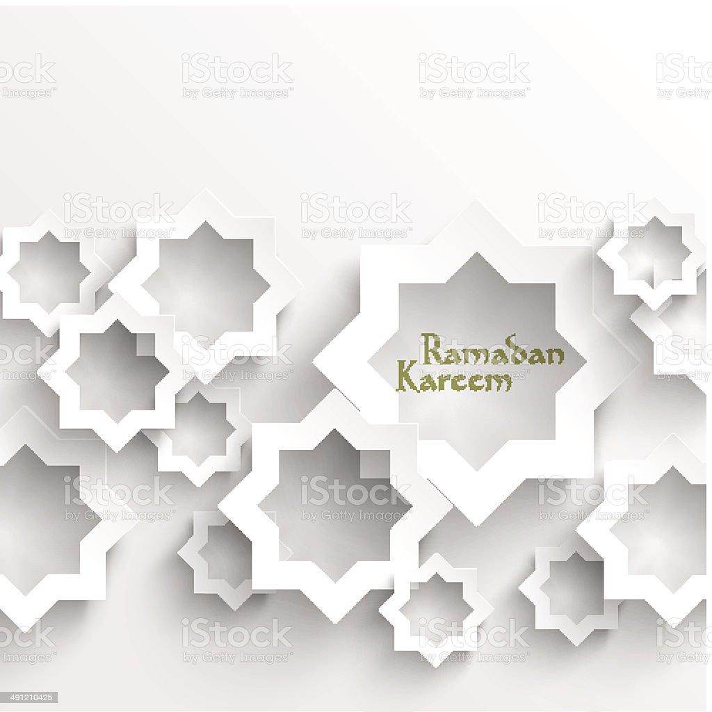 Vector 3D Muslim Paper Graphics. vector art illustration