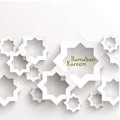 Vector 3D Muslim Paper Graphics.