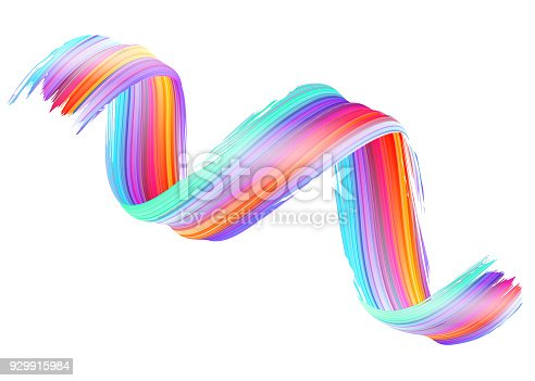 929915344istockphoto Vector 3D Paint Curl. Abstract Spiral Brush Stroke. Flowing Ribbon Shape. Digital Liquid Ink. Dynamic Artistic Wave. Isolated Background Design. Acrylic Splash Ribbon. Calligraphic Brushstroke Loop. 929915984