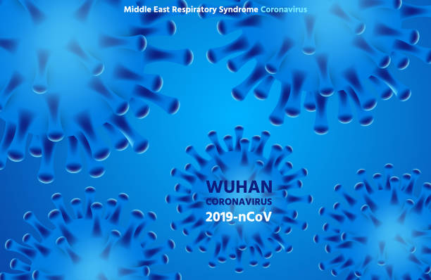 Vector 3d realistic coronavirus background, Wuhan virus covid-19 vector art illustration