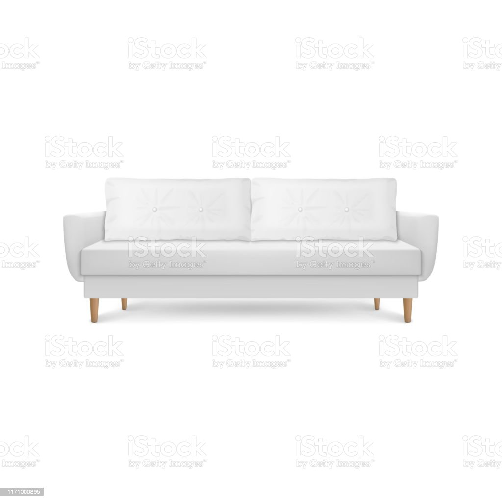 Vector 3d Realistic Render White Leather Luxury Office Sofa ...
