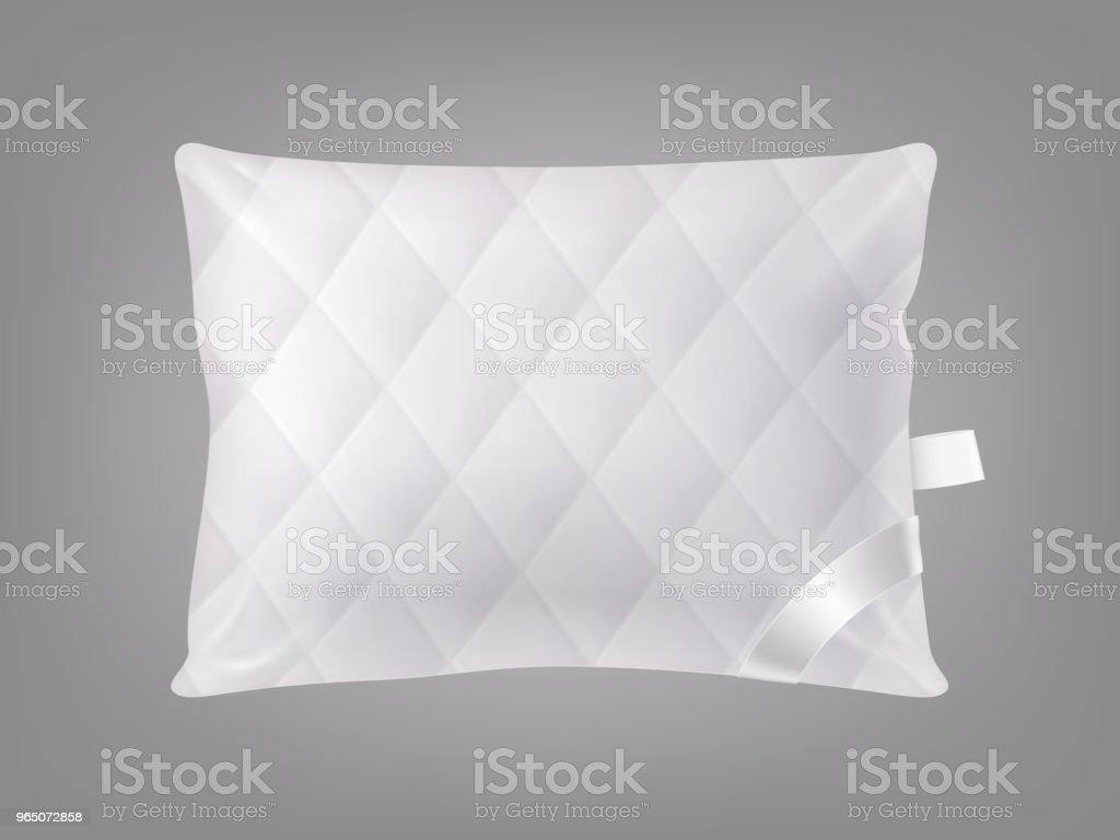 Vector 3d realistic square pillow. Template, mockup vector 3d realistic square pillow template mockup - stockowe grafiki wektorowe i więcej obrazów bawełna royalty-free