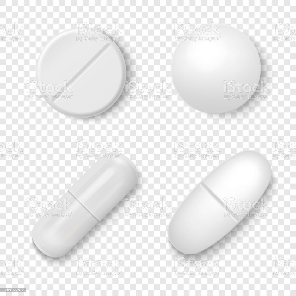 Vector 3d Realistic White Medical Pill Icon Set Closeup Isolated on Transparent Background. Design template of Pills, Capsules for graphics, Mockup. Medical and Healthcare Concept. Top View royalty-free vector 3d realistic white medical pill icon set closeup isolated on transparent background design template of pills capsules for graphics mockup medical and healthcare concept top view stock illustration - download image now