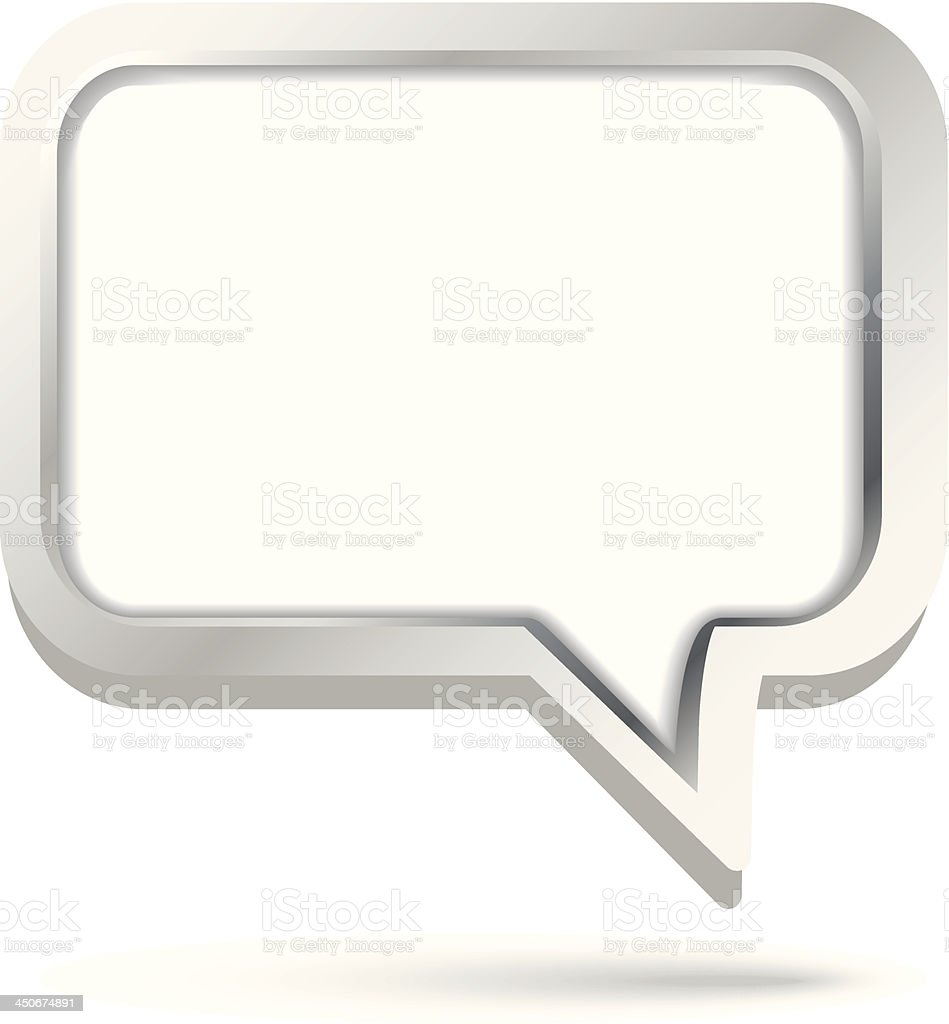 Vector 3d speech bubble royalty-free stock vector art