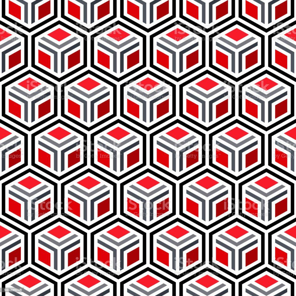 Vektor3dstil Geometrischen Muster Nahtlose Hintergrund Mit Raute ...