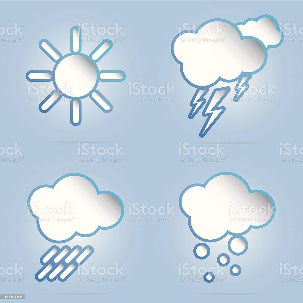 vector 3d weather symbols royalty-free stock vector art