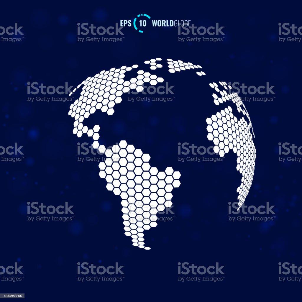 Ansprechend Weltkugel 3d Foto Von Vektor Lizenzfreies Vektor Stock Vektor Art Und