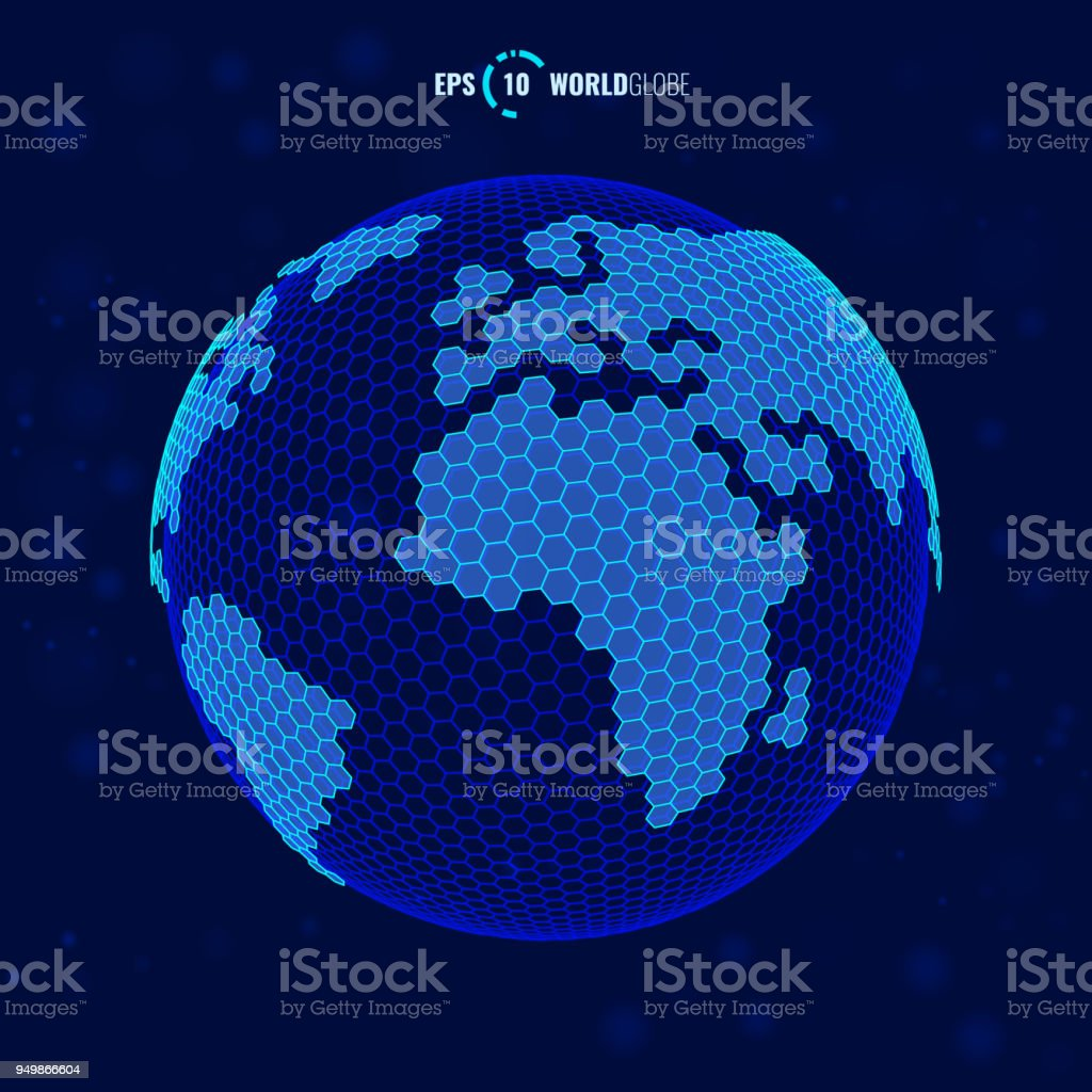 Fabelhaft Weltkugel 3d Sammlung Von Vektor Lizenzfreies Vektor Stock Vektor Art Und