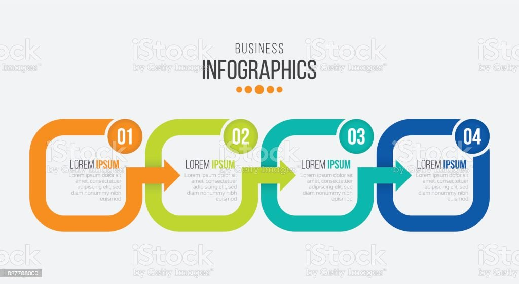 Vector 4 steps timeline infographic template with arrows royalty-free vector 4 steps timeline infographic template with arrows stock illustration - download image now