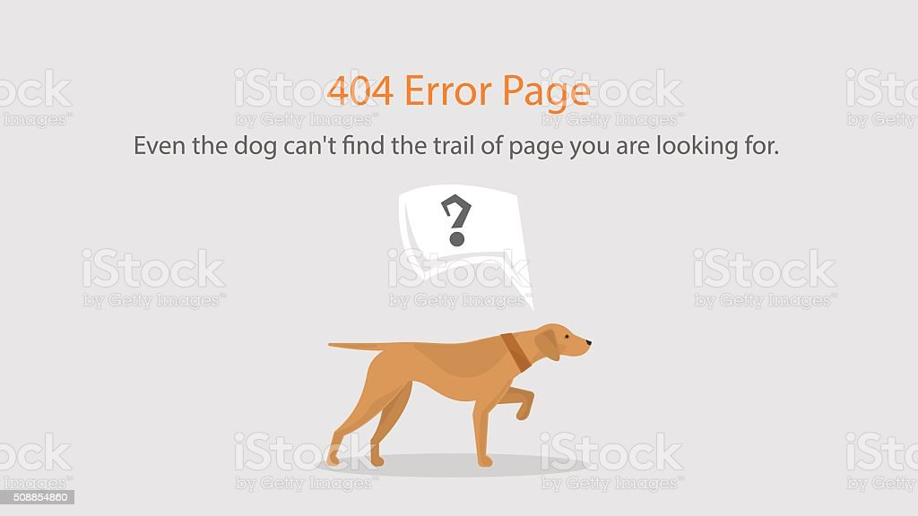 Vector 404 error page template for website. vector art illustration