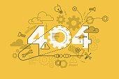 Vector 404 error website banner concept