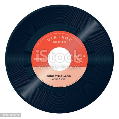 istock Vector 45 Vinyl Record 1262769226