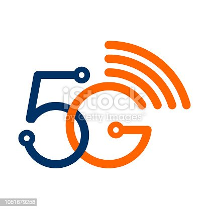 Vector 5G wireless wifi technology symbol