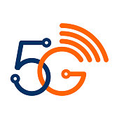 Vector 5G wireless wifi technology symbol