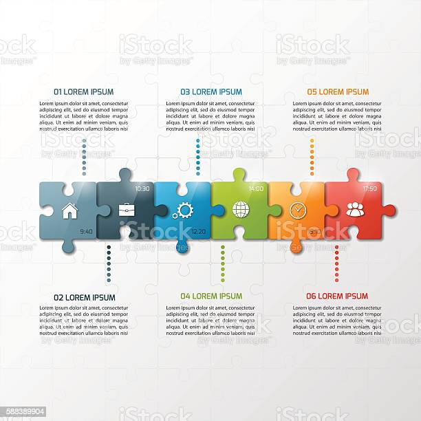 Vector 6 steps puzzle style timeline infographic template vector id588389904?b=1&k=6&m=588389904&s=612x612&h=mrkwpzbpvkavwm iko7fuu99ovt5nlvc  nbj7gy kc=