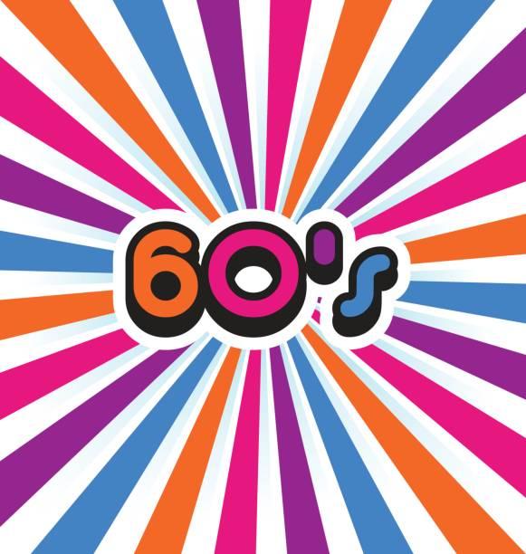 Vecteur des années 60 Vintage couleur fond - Illustration vectorielle