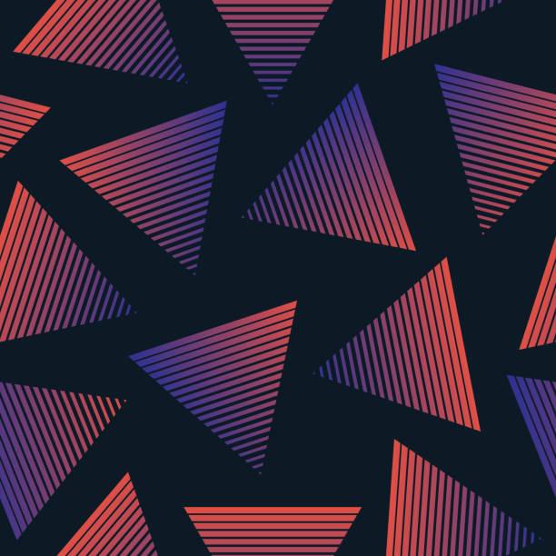 Vector 80s Retro Style Seamless Pattern vector art illustration