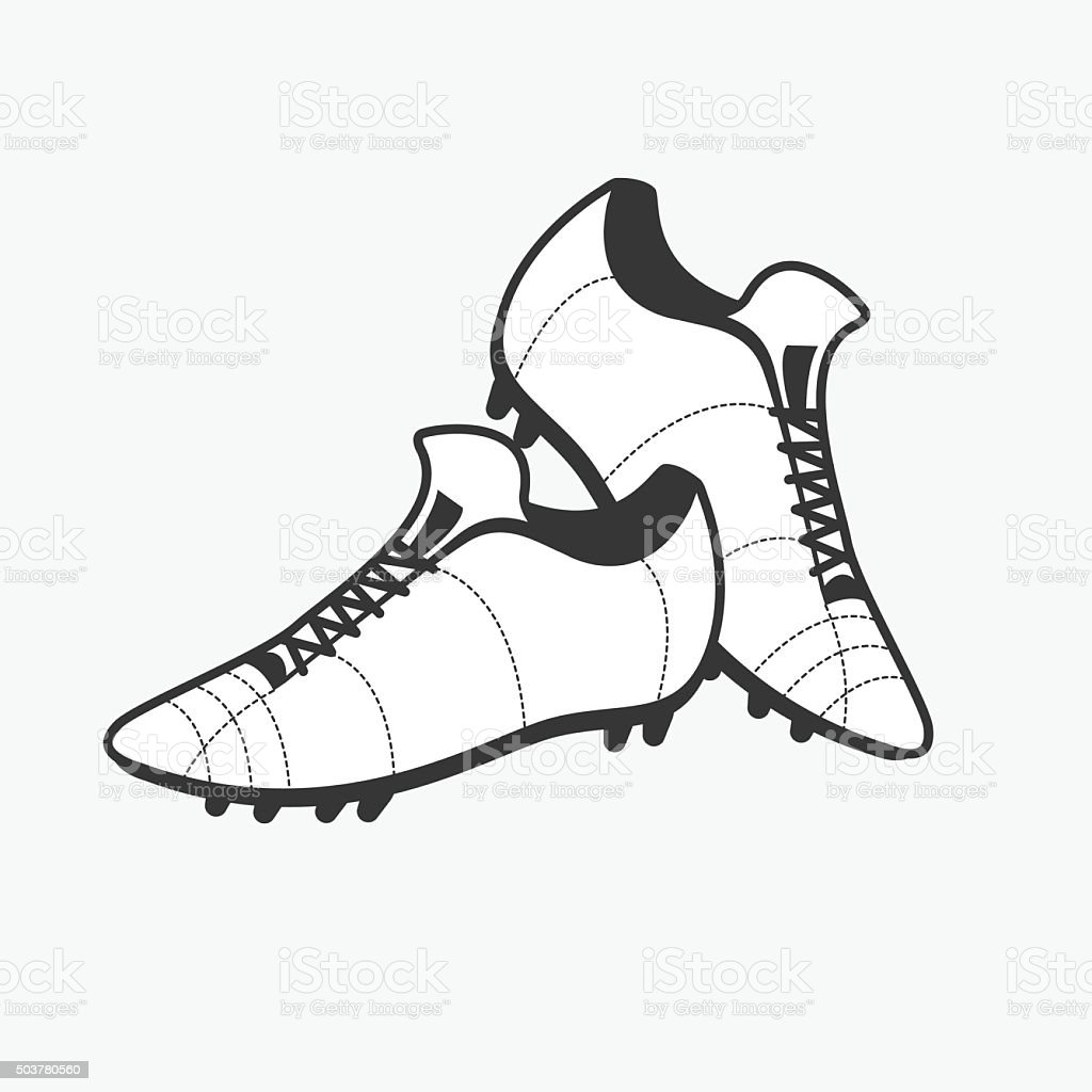 Vector a pair of soccer shoes. Football Boots icon. vector art illustration