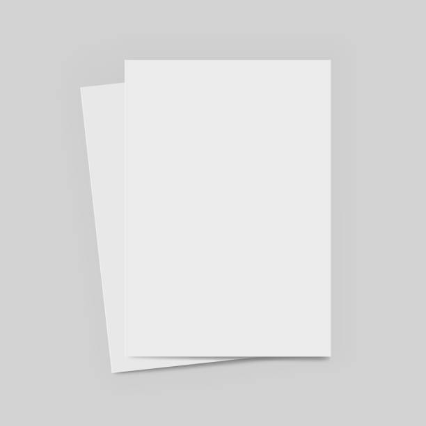 Vector A4 format paper with shadows - stock vector. Vector A4 format paper with shadows - stock vector. stationery templates stock illustrations
