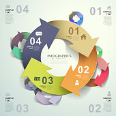 vector abstract 3d origami paper infographic elements