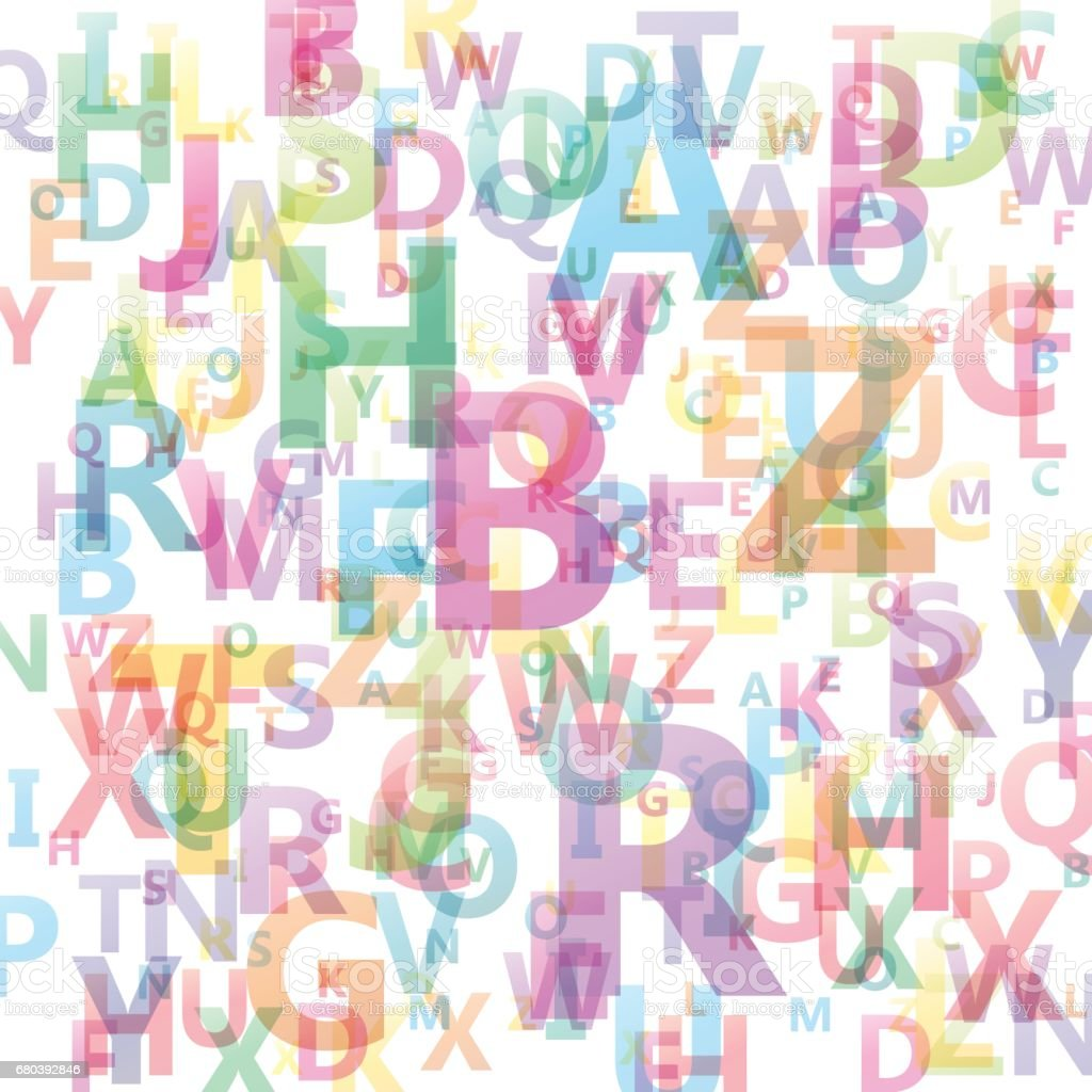 Vector Abstract Alphabet background vector art illustration