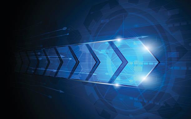 Vektor abstract arrow digitale innovation Konzept Hintergrund – Vektorgrafik