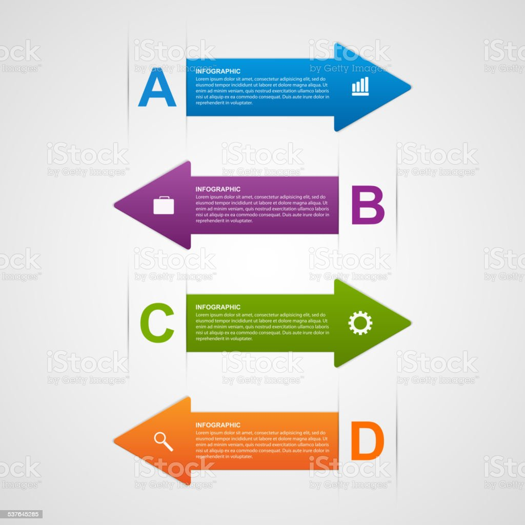 Vector abstract arrows infographic design template. vector art illustration