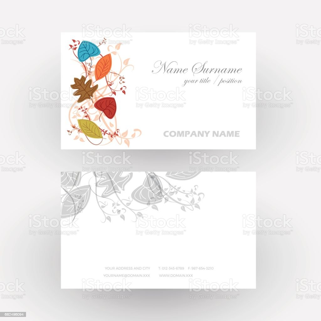 Vector Abstract autumn background, concept nature that change. Business card royalty-free vector abstract autumn background concept nature that change business card stock vector art & more images of abstract