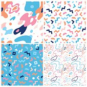 Vector abstract background and seamless patterns